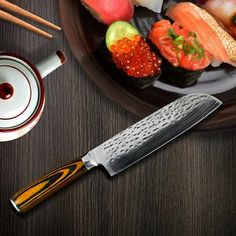 7 inch Japanese Chef Laser Santoku Knife - Nordic Garner #kitchenaccessories #kitchen #cookingtools #stools #utensils #japanese #chef #knives #knife #chef  #meat #beef Kitchen Accessories, Accessories Online, Japanese Chef, Chef Knife, Knife Sets, Cooking Tools, Utensils, Stools, Knives