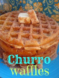 Churro Waffles.... OMG im buying a waffle maker