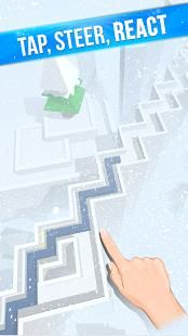 Tap the screen to make a sharp turn, avoiding obstacles and reacting to the World changing before your eyes.