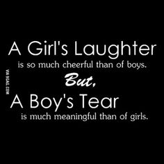 A Girl's Laughter And A Boy's Tear