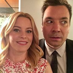 Elizabeth Banks and Jimmy Fallon do a selfie together at the Tonight Show starring Jimmy Fallon  http://celebsip.com/celebrity-instagram-roundup-20/