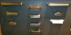 Printers tray handles - any colour you like. Made new from old originals.
