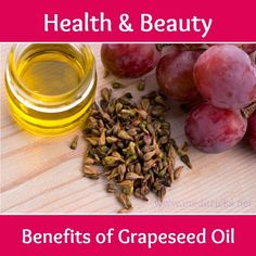 In the world of skincare, not every oil is created equal. If light moisture and the healing effects of Vitamin E are what you crave, grapeseed oil might be the one for you. Grapeseed oil is a carrier oil. Carrier oils come from . Herbal Remedies, Health Remedies, Home Remedies, Natural Remedies, Health And Beauty, Health And Wellness, Grape Seed Extract, Grape Seed Oil, Jojoba