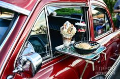 Americana - The Car Hop Photograph  - Americana - The Car Hop Fine Art Print