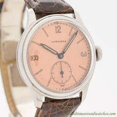 1941 Vintage Longines Tre Tacche Stainless Steel Watch