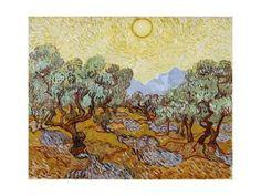 Les oliviers, 1889 Reproduction procédé giclée