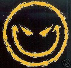 TSHIRT   Evil Smiley Face    T Shirt  Item by AlwaysInStitchesCo, $13.00
