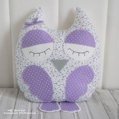 Купить СПЛЮШКА 2 - фуксия, розовый, сова, сова игрушка, подушка, подушка-игрушка