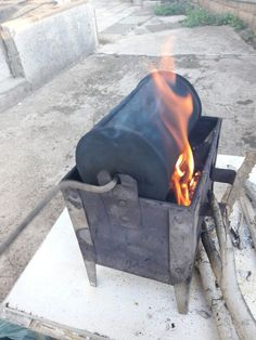 the old Lebanese way to roast coffee