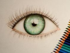 Eye. I'm obssesed to drawing human eyes! Made with crayons.