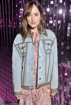 Stylish siren: Arriving at the Italian fashion house's latest catwalk event, the…