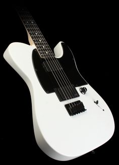 im Root Tele® Squier® brings you a brand-nu signature model in the crushing form of the Squier Jim Root Telecaster®. Designed in cooperation with the acclaimed Slipknot/Stone Sour guitarist, it boasts several foreboding features, most notably a satin-matte finish in black or white, starkly simple single-knob/single switch control layout, black die-cast tuners and other black hardware, and two pulverizing passive humbucking pickups with black covers.