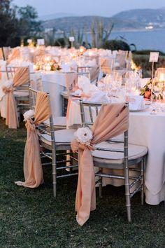 outdoor wedding dinner peach wedding tableware lawn wedding ideas wedding flo we. Wedding Dinner, Wedding Table, Dream Wedding, Outdoor Night Wedding, Night Time Wedding, Outdoor Weddings, Church Wedding, Outdoor Wedding Chairs, Perfect Wedding