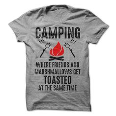 Camping Tshirt Camping Where Friends And by LuckyMonkeyTees
