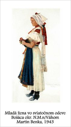 Slovakia, Bošáca Folk Costume, Costumes, Folk Embroidery, Eastern Europe, Beautiful Patterns, Folklore, Traditional, History, Drawings