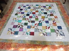 HUNTERS STAR QUILT COMPLETED 11/16
