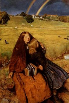 The Blind Girl    Artist: John Everett Millais