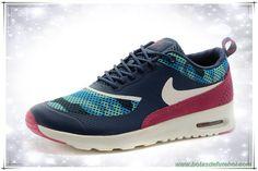 Mulheres Nike Air Max Thea Print Escuro Azul / Escuro Plum / Branco 599408-461C chuteiras venda