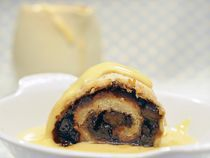 Traditional Spotted Dick Pudding Recipe   This is not a pudding for the faint-hearted or those on a diet. Made from suet, flour and dried fruit it is high in calories. It is, however, the perfect pudding for a treat on a cold winter's day.