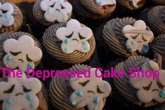 sad cloud cupcakes