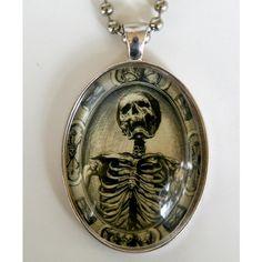 Memento Mori Skeleton necklace psychobilly gothic punk odd d... - Polyvore