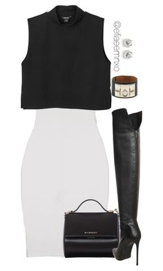 """""""Untitled #995"""" by efiaeemnxo ❤ liked on Polyvore featuring moda, ISABEL BENENATO, Monki, Givenchy, Le Silla y Hermès"""