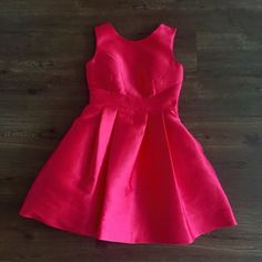 "NWT Kate Spade open back silk mini dress Fit and flare w/ invisible side zipper, scoop neck, bow back, side seam pockets, and pleating all around. 90% polyester 10% silk. 36"" long from shoulder kate spade Dresses Mini"