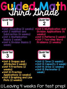 Thrifty in Third Grade: Guided Math for Third Grade