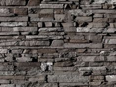 Back Splash Eldorado Stone Stacked Stone Very rustic. would look fantastic with patina steel Brick And Stone, Grey Stone, Faux Stone, Fireplace Design, Fireplace Stone, Fireplaces, Fireplace Redo, Fireplace Mantles, Fireplace Ideas