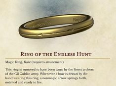 dungeons and dragons Homebrewing Endless Hunt Ring, rare Dungeons and Dragons loot for Players and Dungeon Masters Dungeons And Dragons Classes, Dungeons And Dragons Characters, Dungeons And Dragons Homebrew, Dnd Characters, Magia Elemental, Dnd Stories, Dnd Dragons, Dungeon Master's Guide, Dnd Funny