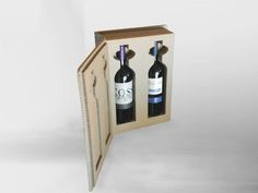 Cardboard wine box. Choose your own style.