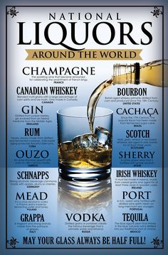 National Liquors Poster, by Party Drinks Alcohol, Alcohol Drink Recipes, Liquor Drinks, Whiskey Drinks, Wine And Liquor, Cocktail Drinks, Alcoholic Drinks, Cocktails, Wine Recipes