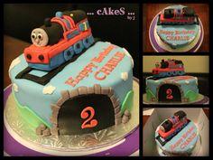 Edible Thomas the Train cake topper =)