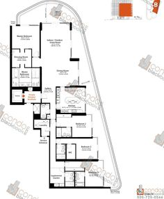Luxury floor plans naples luxury residences penthouse for Miami house plans