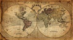 Globe Tan Map World Map Canvas Vintage Map set Large wall