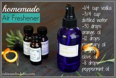 Homemade Air-Freshener // rubiesandradishes.com