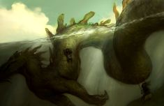 sea dragon by tobiee (digital illustration)