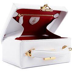 MARK CROSS Mini trunk bag (White Mark Cross, Hermes Kelly, Trunks, Shoulder Bag, Mini, Stuff To Buy, Bags, Accessories, Shopping