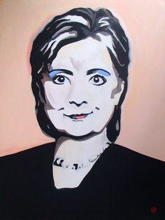 "For Sale: Portrait of Hillary by Antti Eklund   $1,500   30""w 40""h   Original Art   https://www.vangoart.co/antti-eklund/portrait-of-hillary @VangoArt"