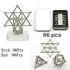66 Pcs DIY Magnetic Construction Building Blocks Magnet Sticks& Balls puzzle Toy for children Brain Training and Learning Stack Game, Metal Puzzles, Desk Toys, Brain Training, Puzzle Toys, Christmas Deco, Sticks, Kids Toys, Magnets