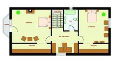 case pe loturi inguste 2 plan mansarda Narrow Lot House Plans, Floor Plans, How To Plan, Orice, Home, Design, Art, Hip Bones, Dormer House