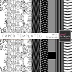 Paper Templates 017 Kit   digital scrapbooking