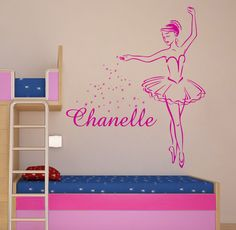 PERSONALIZED BALLERINA large vinyl wall art sticker by NSVINYLS, £14.99