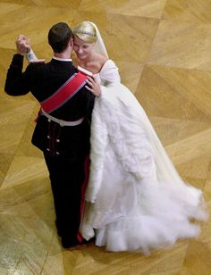 Crown Prince Haakon and (now) Crown Princess Matte-Marit of Norway, 14 February 2002(Olycom)
