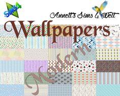 Modern wallpapers at Annett's Sims 4 Welt • Sims 4 Updates