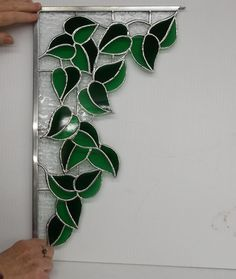 see more ideas mosaic leaves Stained Glass Mirror, Stained Glass Paint, Stained Glass Flowers, Stained Glass Panels, Stained Glass Projects, Leaded Glass, Mosaic Glass, Glass Art, Stained Glass Patterns Free