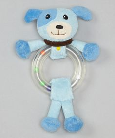Another great find on #zulily! Blue Puppy Ring Rattle by Stephan Baby #zulilyfinds