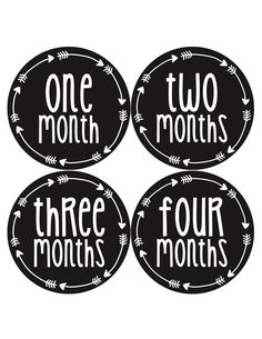 Gender Neutral Baby Month Stickers Style #1027