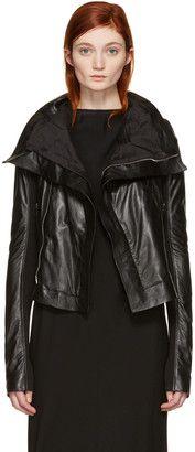 Shop Now - >  https://api.shopstyle.com/action/apiVisitRetailer?id=622402636&pid=uid6996-25233114-59 Rick Owens Black Classic Biker Jacket  ...