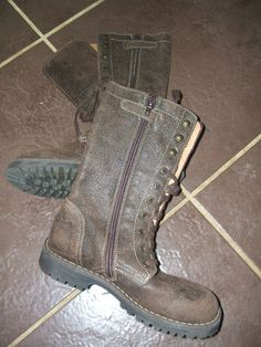 Girls Italian Leather Brown Boot Size Euro 31 UK 12 5 Worn Once | eBay